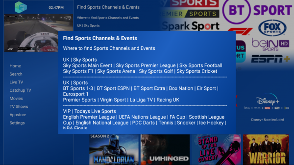 PureTV - Sports Channel Locations