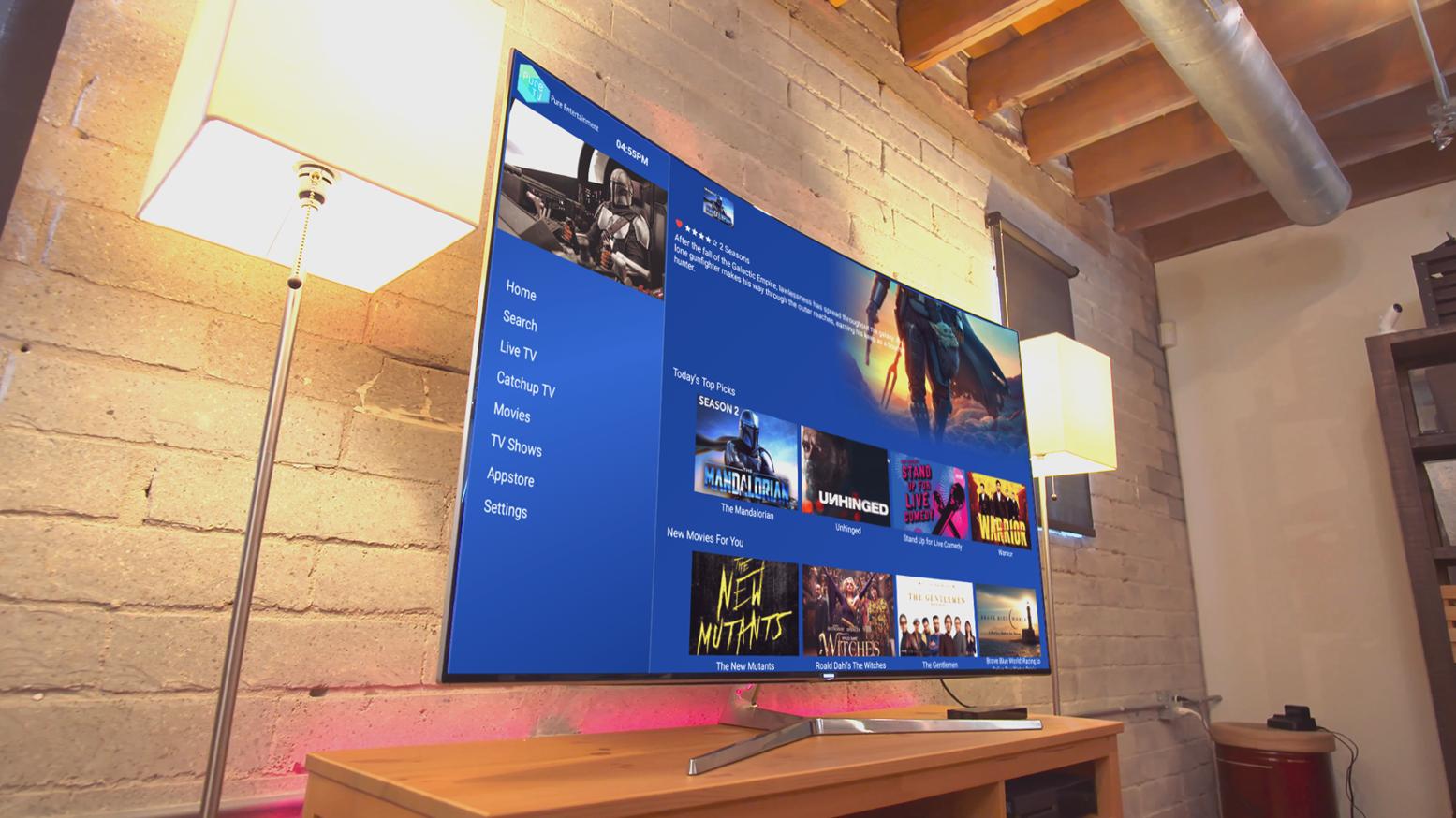 PureTVD_Smart TV Modern Room Mockup 5