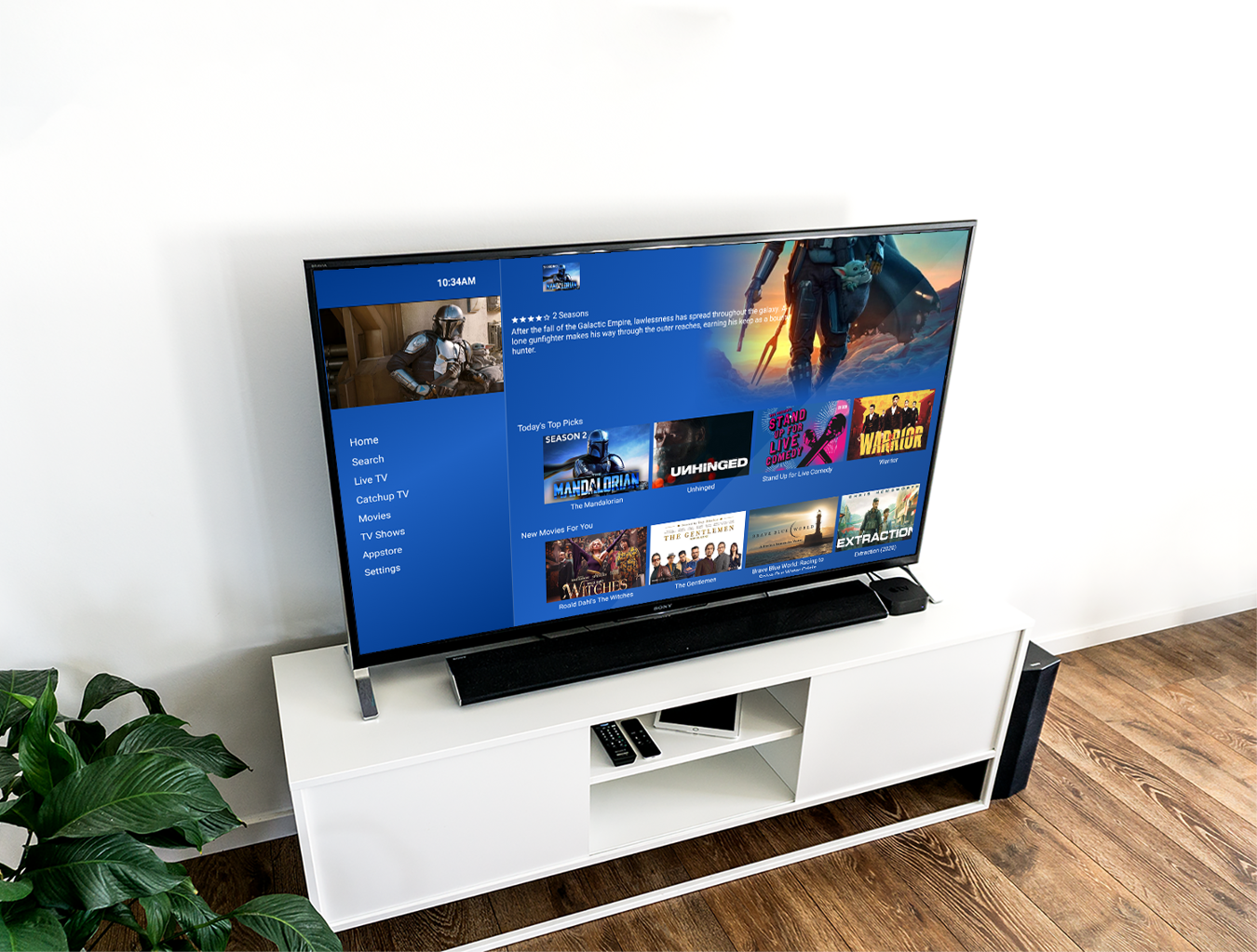 Smart TV Modern Room Mockup Pure TV Deluxe